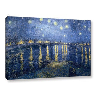 Vincent van Gogh 'Starry Night Over the Rhone' Gallery-wrapped Canvas - multi