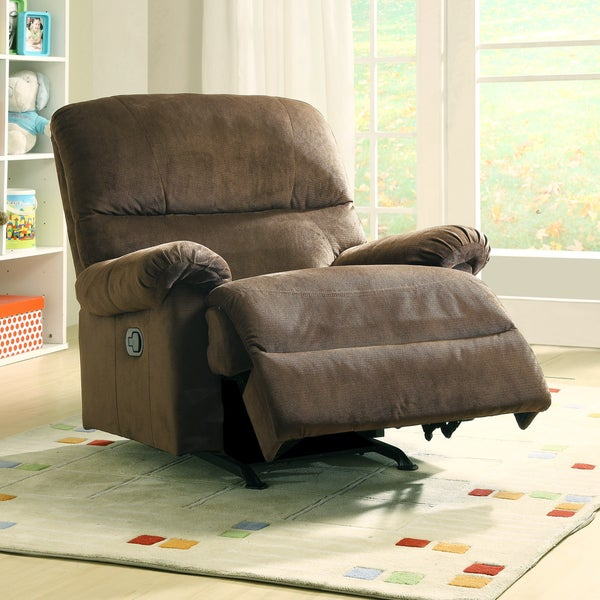Shop Nolan Earth Brown Fabric Nursery Rocker Recliner