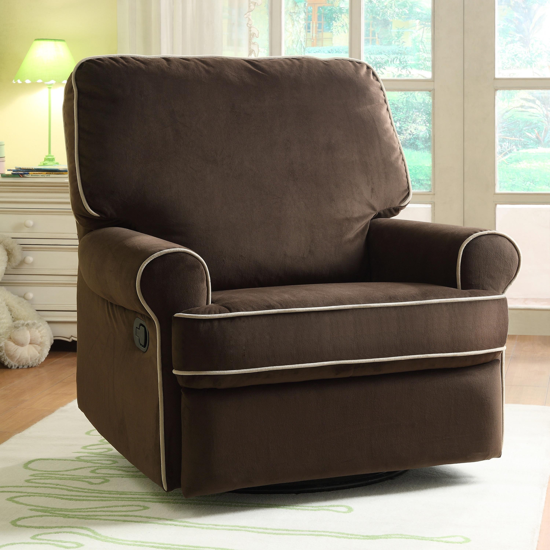 Ella Brown Fabric Nursery Swivel Glider Recliner Chair 42 X 37 39