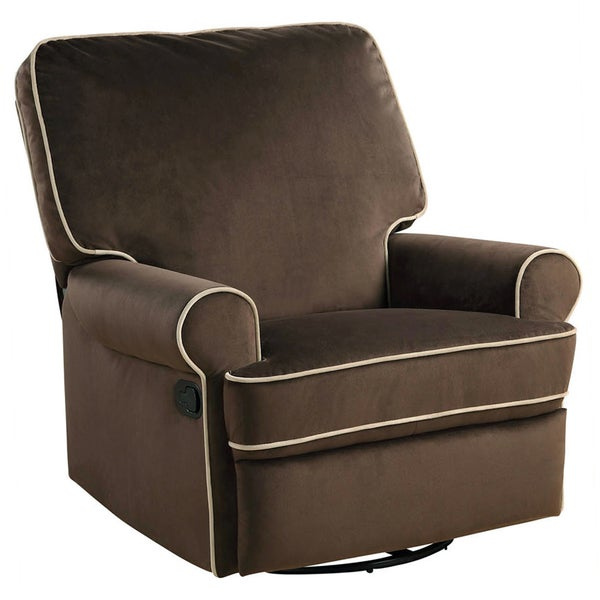 Ella Brown Fabric Nursery Swivel Glider Recliner Chair - Free Shipping Today - Overstock.com - 15316565  sc 1 st  Overstock.com & Ella Brown Fabric Nursery Swivel Glider Recliner Chair - Free ... islam-shia.org