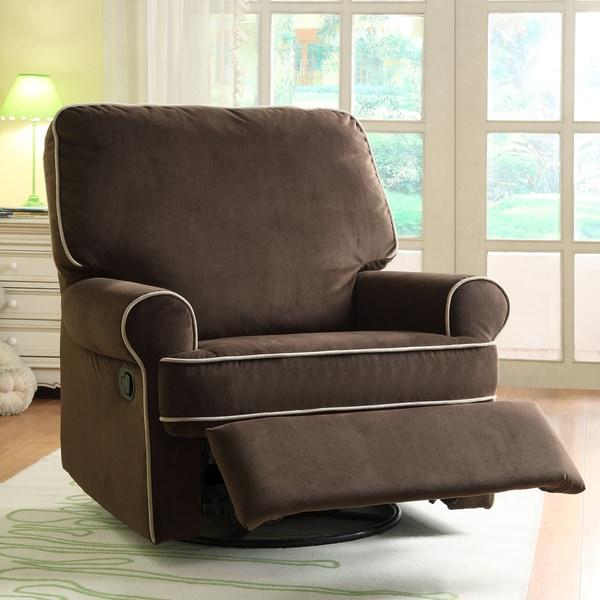 Ella Brown Fabric Nursery Swivel Glider Recliner Chair & Ella Brown Fabric Nursery Swivel Glider Recliner Chair - Free ... islam-shia.org