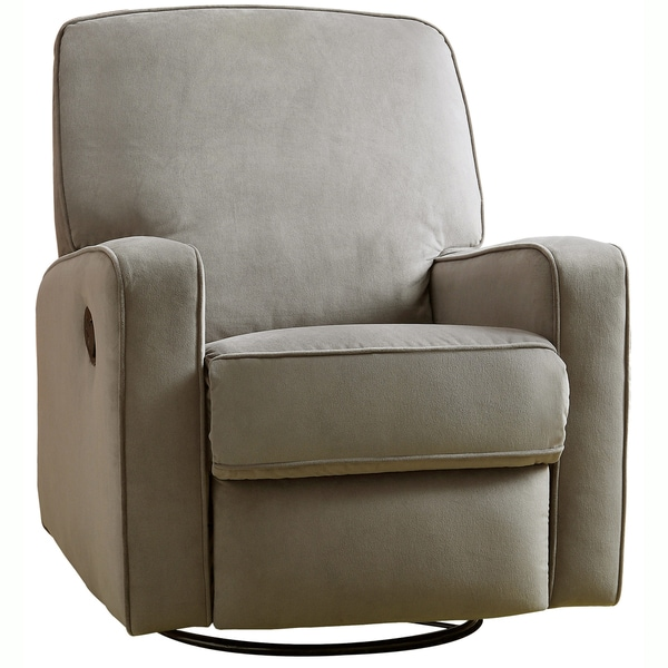 Colton Gray Fabric Modern Nursery Swivel Glider Recliner Chair - Free Shipping Today - Overstock.com - 15316567  sc 1 st  Overstock.com & Colton Gray Fabric Modern Nursery Swivel Glider Recliner Chair ... islam-shia.org