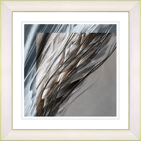 Studio Works Modern 'Shaft of Wheat - Brown' Framed Print