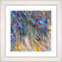 Studio Works Modern 'Palm Tree Euphoria - Blue' Framed Print