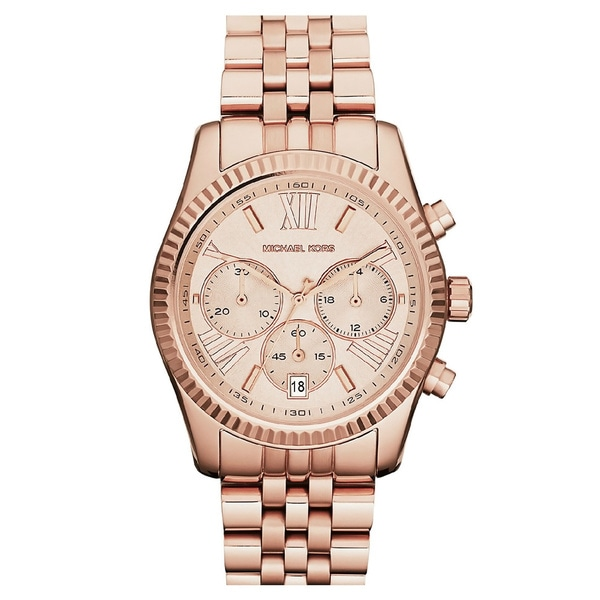 f559487e43db Shop Michael Kors Women s MK5569  Lexington  Rose Gold-Tone Watch ...