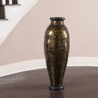 Gold and Black Urn Mosaic Decorative Vase (Indonesia)