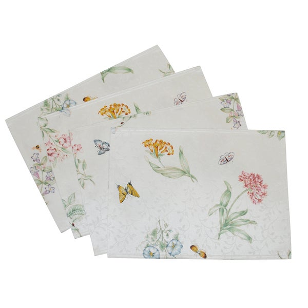 Shop Lenox Butterfly Meadow Reversible Placemats Set Of