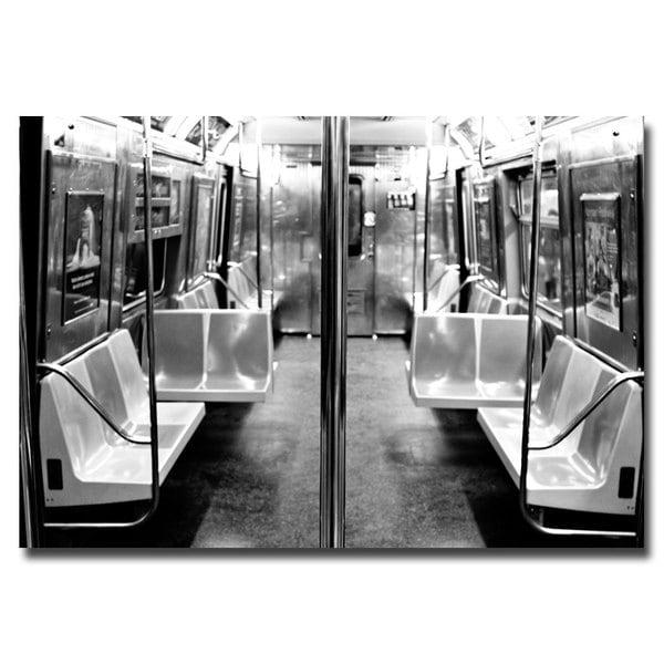 Ariane Moshayedi 'Subway Car' Canvas Art - Multi