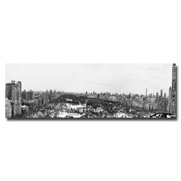 Ariane Moshayedi 'BW NYC Panorama' Canvas Art
