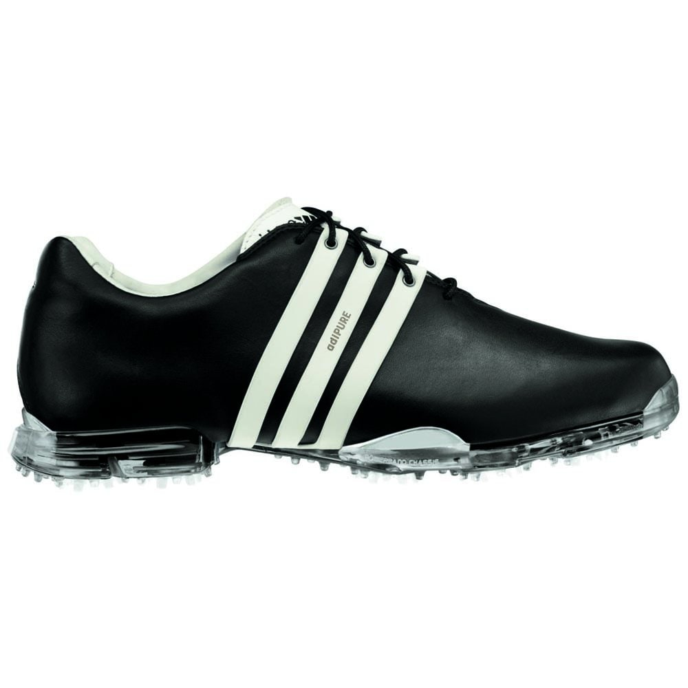 Adidas Men's Adipure Black and White Golf Shoes (Wide - 9...