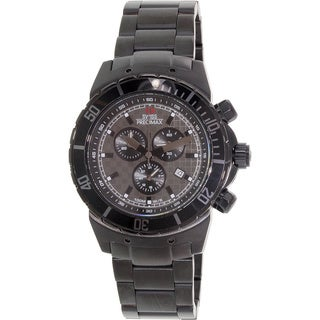 Swiss Precimax Men's 'Pursuit Pro' Black/ Grey Dial Swiss Chronograph Watch