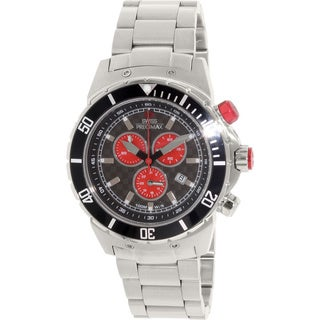 Swiss Precimax Men's 'Pursuit Pro' Grey/ Red Swiss Chronograph Watch