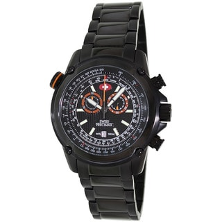 Swiss Precimax Men's Squadron Pro Black Steel Chronograph Watch