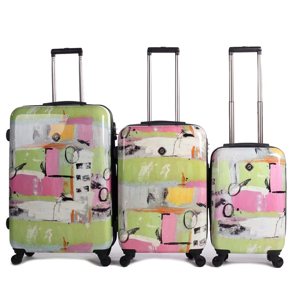 Neocover Fun Pastels 3 Piece Hardside Spinner Luggage Set