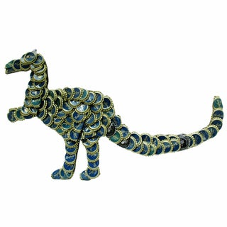 Handmade Bottle Cap T-Rex Wall Plaque (Kenya)