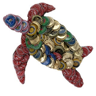 Bottle Cap Turtle Wall Plaque (Kenya)