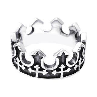 Handmade Majestic Cross Royal Crown .925 Sterling Silver Ring (Thailand)|https://ak1.ostkcdn.com/images/products/7942452/7942452/Majestic-Cross-Royal-Crown-.925-Sterling-Silver-Ring-Thailand-P15316926.jpg?impolicy=medium