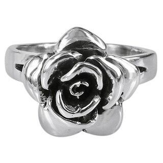 Handmade Raised Blooming Rose 925 Sterling Silver Ring Thailand