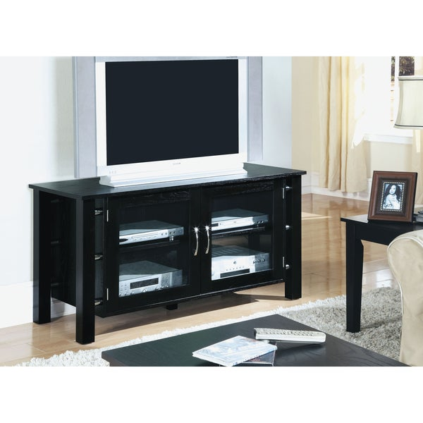 Black Oak Veneer 50-inch TV Console
