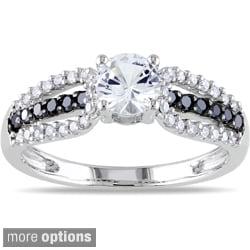 Miadora 10k Gold Gemstone and 1/3ct TDW Diamond Ring (H-I, I2-I3)