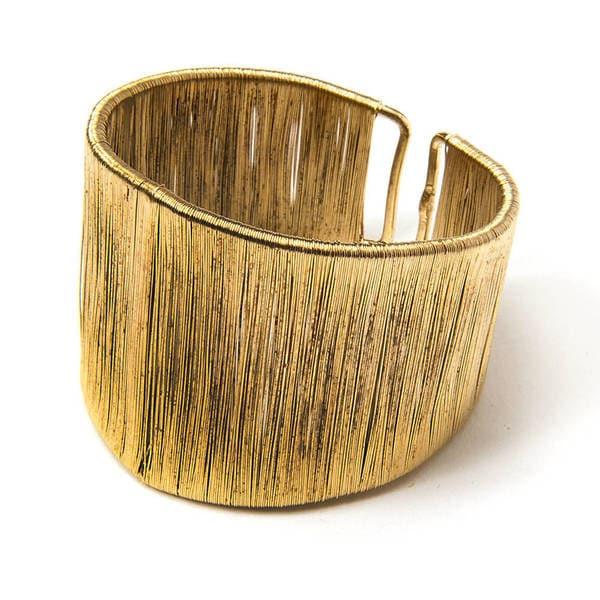 Handmade Brass Wire Cuff (India)