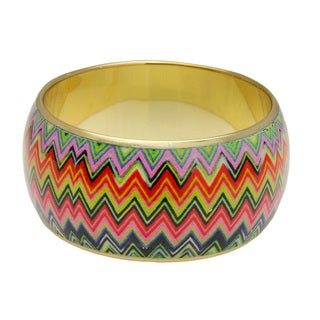 Saachi Brass Zig Zag Multicolor Bracelet (India)