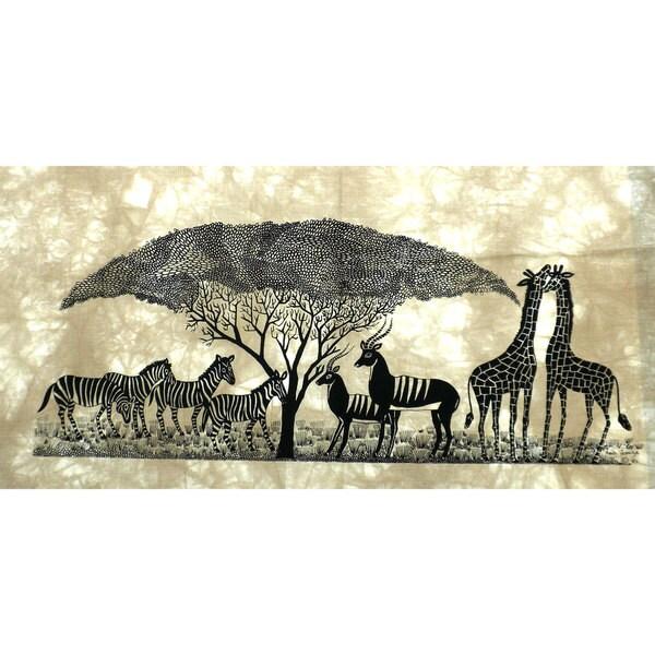 African Wildlife Heidi Lange Screen Print (Kenya)