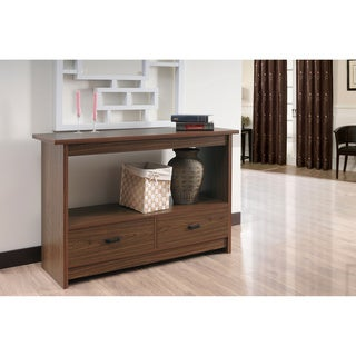 Furniture of America Caliper Walnut Sofa/ Console Table