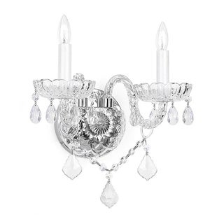 Gallery Venetian Clear Crystal 2-light Wall Sconce