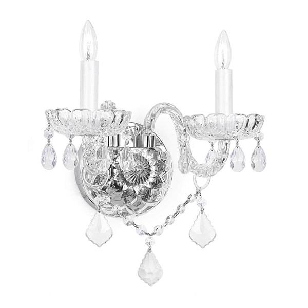 Gallery Venetian Crystal 2-light Wall Sconce. Opens flyout.