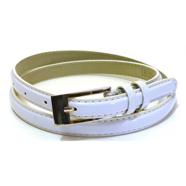 s white patent leather dress belt free