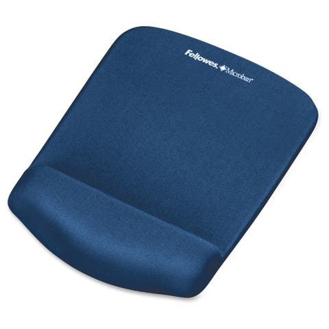 Fellowes PlushTouch Mouse Pad Wrist Rest with Microban - Blue