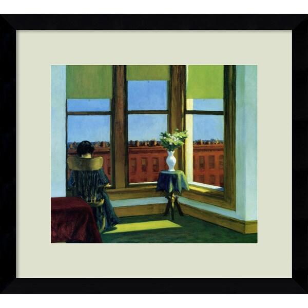 Framed Art Print 'Room in Brooklyn' by Edward Hopper 16 x 14-inch