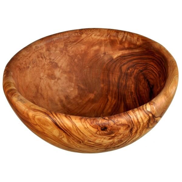 Hand Crafted Olive Wood Salad Bowl (Tunisia)