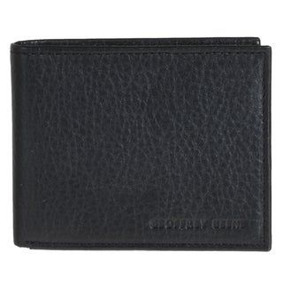 Geoffrey Beene Men's Black Leather Passcase Wallet