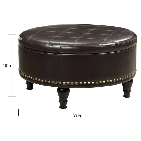 Marvelous Shop Gracewood Hollow Belamri Round Storage Ottoman On Dailytribune Chair Design For Home Dailytribuneorg
