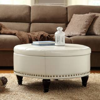 Marvelous Buy Cream Ottomans Storage Ottomans Online At Overstock Ocoug Best Dining Table And Chair Ideas Images Ocougorg