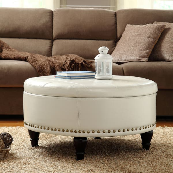 Peachy Shop Gracewood Hollow Belamri Round Storage Ottoman On Dailytribune Chair Design For Home Dailytribuneorg