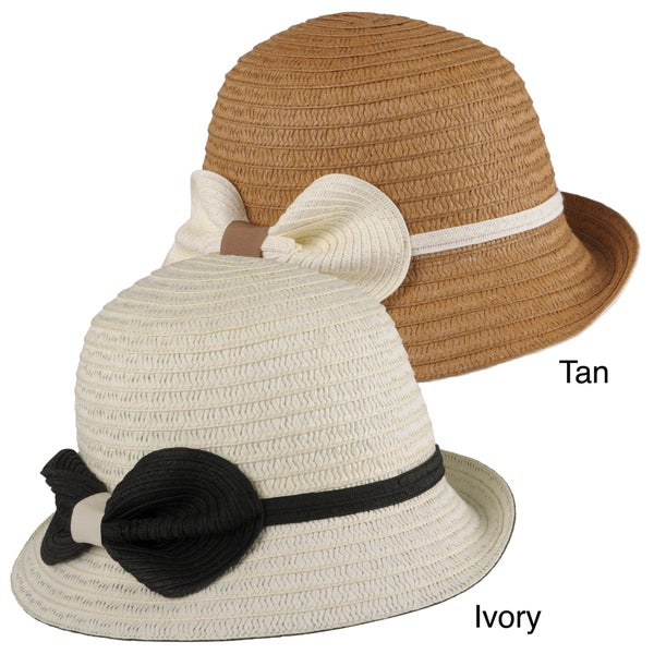 Journee Collection Women's Bow Accent Braided Bucket Hat