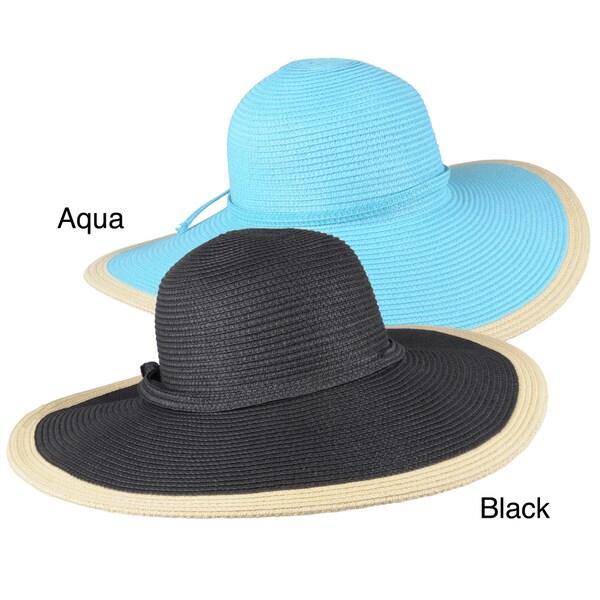 Journee Collection Women's 5-inch Brim Braided Paper Hat