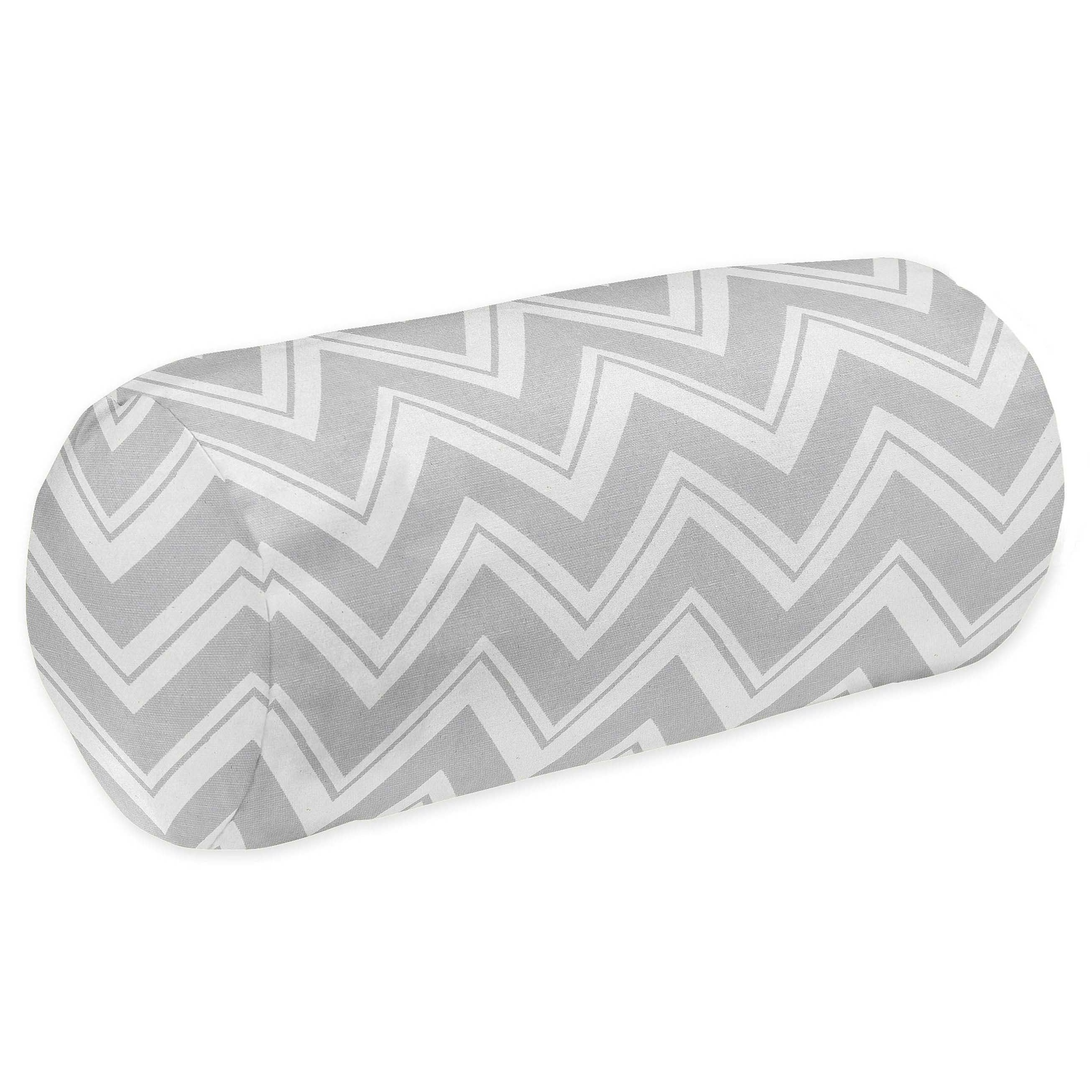 Sweet Jojo Designs Grey Chevron Zigzag Neckroll Bolster Pillow Overstock 7945186