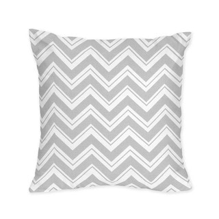 Sweet Jojo Designs Grey Chevron Zigzag Throw Pillow