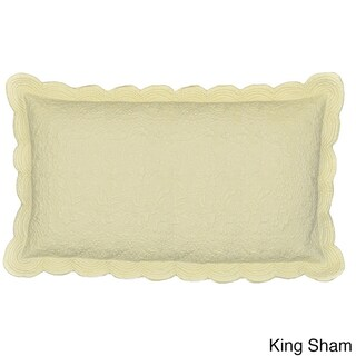 Cottage Home Matelasse Cotton 100 Thread Count Cream Sham