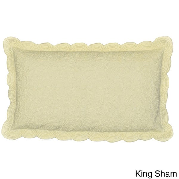 Cottage Home Matelasse Cotton 100 Thread Count Cream Sham