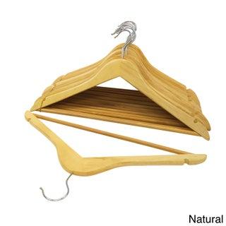 Florida Brand Wood Suit Hangers (Set of 48)
