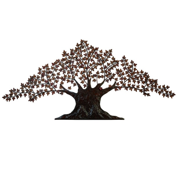 Shop Casa Cortes Handcrafted Tree of Life Large Metal Wall Art Decor ...