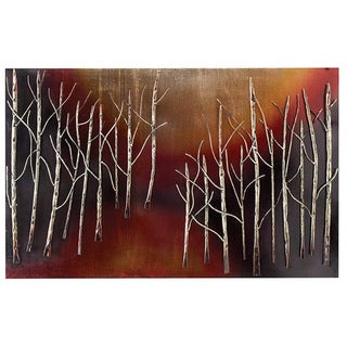 Casa Cortes Handcrafted Abstract Trees Metal Wall Art Decor
