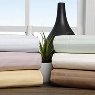 Superior 100-percent Premium Long-staple Combed Cotton 650 Thread Count Stripe Pillow Shams (Set of 2)