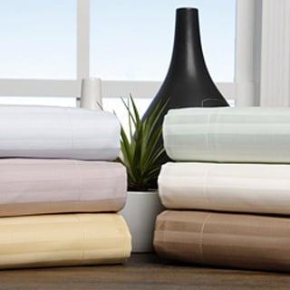 Superior Egyptian Cotton 650 Thread Count Stripe Pillow Sham Set (Set of 2)