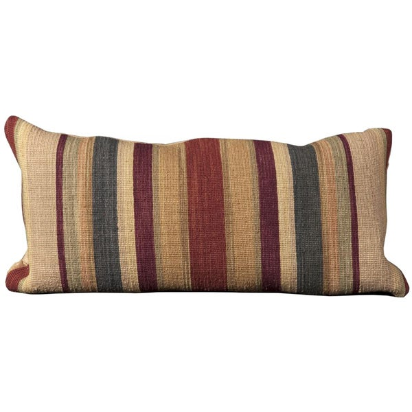 Mina Victory Nourmak Stripes Rust Throw Pillow (14-inch x 30-inch) by Nourison